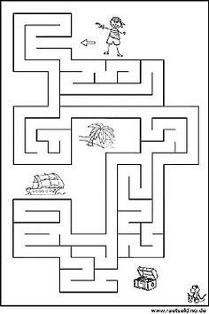 Labyrinth Vorlage für Kinder