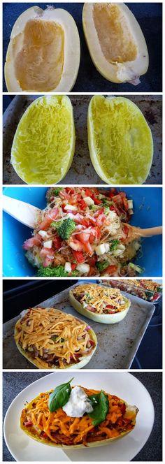 Twice Baked Spaghetti Squash (Gluten-Free)
