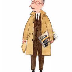 Tintin inspired no. 3 #tintin #mensfashion #fashionillustration #menssuitstyle #mackintosh #gentleman
