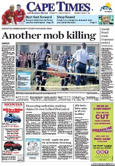 News making headlines:  Another mob killing