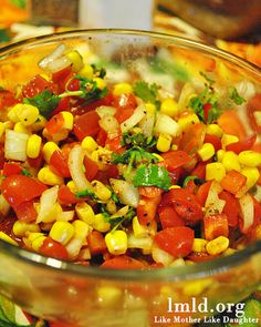 This corn salsa is as easy as 1,2,3 and very delicious! #lmldfood