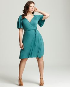 Rachel Pally White Label Plus Size Finn Flutter Wrap Dress