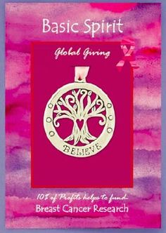 Global Giving ornament - 10% of the profit goes towards breast cancer research.