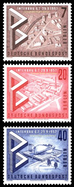 EBS West Berlin 1957 Interbau Architecture Exhibition Michel 160-162 MNH** | eBay