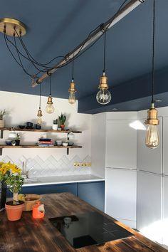 Modern Kitchen Lighting, Industrial Style Kitchen, Industrial Style Lighting, Modern Kitchen Design, Industrial Kitchen Island Lighting, Kitchen Designs, Interior Design Trends, Design Ideas, Interior Inspiration
