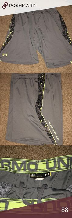 Green and grey under armour men's shorts size L Green and grey under armour men's shorts size L Under Armour Shorts Athletic