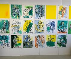 Sef Berkers. STARRING paintings. Studio wall. Star Painting, Film Images, Human Condition, Film Posters, Photo Wall, Paintings, Stars, Studio, Frame