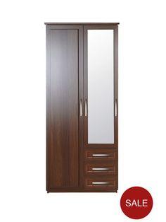 Oslo 2-Door, 3-Drawer Wardrobe   littlewoods.com