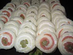 Smoked Salmon Asparagus Pinwheels (Party Sandwiches) Recipe