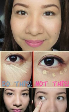 Apply Concealer in a Triangle Shape - 40 DIY Beauty Hacks That Are Borderline Genius make up tips Diy Beauty Hacks, Beauty Hacks For Teens, Hacks Diy, Beauty Make-up, Beauty Secrets, Hair Beauty, Beauty Tips, Beauty Products, Beauty Ideas