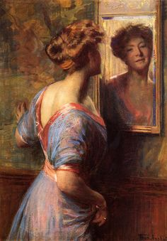 fleurdulys: Thomas Pollock Anshutz -A Passing Glance - c. 1900