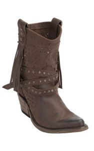 Liberty Black Women's Distressed Brown Vegas T-Moro Stud Wrapped Harness Snip Toe Western Fashion Boots | Cavender's