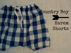 Baby Boys HAREM PANTS Harem Shorts Navy and by ScoontyMadeWithLove, $14.00