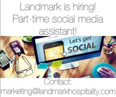 Landmark Hospitality is hiring! We're looking for a creative and talented individual to head up some of our social media networks. Could you be the next Landmark #memorymaker ?! For more information please email marketing@landmarkhospitality.com!  #landmarkhospitality #landmarkvenues #socialmedia #dowhatyoulove #marketing #jobsearch Wedding Pinterest, Youre Invited, Email Marketing, Hospitality, Event Planning, Social Media, Boathouse, Logan, Creative