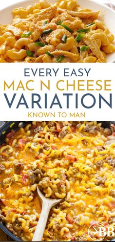 Who doesn't love mac & cheese? Dinnertime just got way more exciting! Here are 26 different (& delicious!) ways to upgrade a basic mac and cheese recipe. Basic Mac And Cheese Recipe, Easy Mac And Cheese, Mac Cheese, Clean Dinner Recipes, Beef Recipes For Dinner, Lunch Recipes, Easy Healthy Dinners, Easy Healthy Recipes, Easy Dinners