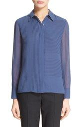 Tory Burch Pintuck Silk Blouse