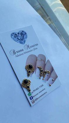 Modelos de joias de luxo para as unhas inspiração unhas decoradas Manicures, Nailart, Make Up, Diamond, Accessories, Black Nails, Nails Inspiration, Nail Jewels, Enamels