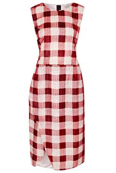 Silk Devore Check Dress By Boutique - Dresses  - Clothing