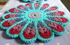 Ihana malli <3 Chrochet, Pot Holders, Diy And Crafts, Coasters, Blanket, Flowers, Tejidos, Crochet, Crocheting