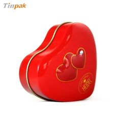 This seamless heart tin box is very cute. It's made up of two pieces of tinplate. It's suitable for packaging candle or wax.