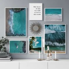 Art Wall Kids, Canvas Wall Art, Palm Trees Beach, Cute Bedding, Nordic Art, Landscape Walls, Living Room Pictures, Wall Art Quotes, Poster Wall