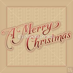 A MERRY CHRISTMAS hand lettering (vector) — Stock Vector © letterstocker #download #stock #StockImages #microstock #royaltyfree #vectors #calligraphy #HandLettering #lettering #design #letterstock #silhouette #decor #printable #printables #craft #diy #card #cards #label #tag #sign #vintage #typography