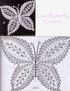 The best butterfly crochet pattern for your design Free Crochet Butterfly Patterns ⋆ Crochet Kingdom 77 With over 50 free crochet butterfly patterns to make you will never be bored again! Get your hooks out and let's crochet some butterflies! Crochet Butterfly Free Pattern, Crochet Lace Edging, Crochet Doily Patterns, Crochet Mandala, Crochet Chart, Thread Crochet, Crochet Doilies, Crochet Flowers, Crochet Stitches