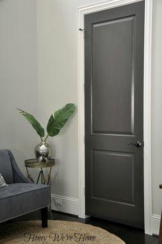 <3 Dark Gray Painted Interior Doors
