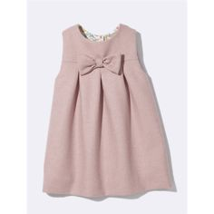 Pink baby dress with bow, robe bébé rose avec noeud