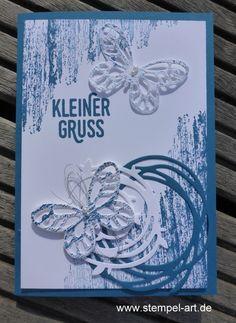 In Color Farben 2016 - 2018 Jeansblau nach StempelART, Stampin up, Wundervoll verwickelt, Schmetterling, Schmetterlinge, Timeless Textures, Paarweise, Pflanzen Potpourri