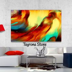 Cuadro Decorativo Tayrona Store Para Sala o Alcoba Pintura Fluida Color 38 Flat Screen, Night, Artwork, Painting, Cali, Modern Paintings, Canvases, Mdf Wood, Digital Prints
