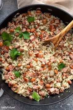 Easy Cranberry Fluff - Belly Full Broccoli Pasta Salads, Chicken Broccoli Pasta, Pasta Salad Recipes, Risotto Recipes, Kielbasa And Cabbage, Kielbasa Sausage, Rice And Beans Recipe, Easy Skillet Meals, Bean Recipes