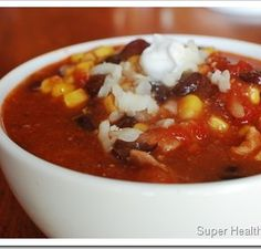 I can't believe we are already at letter T in our Alphabet's Healthiest Food Academy! Next week, I think I'm going to have a Letter U/V combi Taco soup with superfood ingredients! Healthy Soup Recipes, Healthy Meals For Kids, Real Food Recipes, Cooking Recipes, Cooking Tips, Chili Recipes, Delicious Recipes, Slow Cooker Tacos, Slow Cooker Recipes