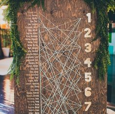 tree table plan - #tableplans #seating plans -  another cute idea spotted by the team at www.huntshamcourt.co.uk