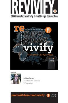 REVIVIFY - T-shirt contest Entry #4 See more here: https://www.facebook.com/media/set/?set=a.584764198243534.1073741826.220143218038969&type=1  #promotionalproducts #advertisingspecialties #ppaiexpo #design #graphicdesign