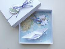 Geldgeschenk Reise Gutschein Schiff Landkarte