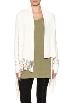 Shoptiques Product: Asymmetrical Fringed Sweater - main