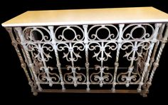 Cast iron console table with marble. Cn be a radiator cover?