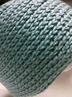 Camel stitch ... looks like a knit stitch. This is crochet so will go fast but looks knit..
