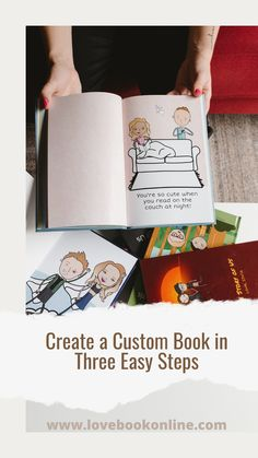 Create a personalized book with custom characters and pages. Choose a hard or soft cover, matte or gloss covers.  Personalize the characters to look just like you and the receiver. Add pages with the help of our express wizard or just make your own pages with your own message.