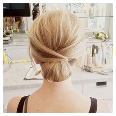Twisted & textured #Uptini by @jonee1325.  #chignon #Drybar