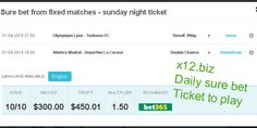 FREE - Daily sure ticket from x12.biz. Enjoy !!! 365 fixed matches . Have fun