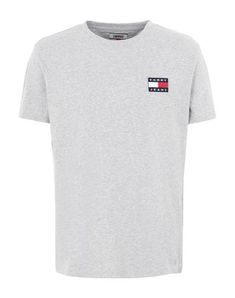 Tommy Jeans Tjm Tommy Badge Tee - Men T-Shirt on YOOX. The best online selection of T-Shirts Tommy Jeans. Tommy Jeans T Shirt, T Shirt And Jeans, Jean Top, Mens Tees, Tommy Hilfiger, Sportswear, Short Sleeves, Adidas, Grey