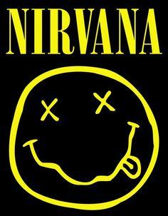 Nirvana Smiley Face Music Poster Print Kurt Cobain Logo, New, Nirvana Logo, Nirvana Lyrics, Nirvana Band, Rock Posters, Art Posters, Kurt Cobain, Rock Y Metal, Grunge, Retro Poster