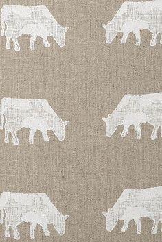 Emily Bond Dairy Cow linen- love this but have nowhere for it- sob!