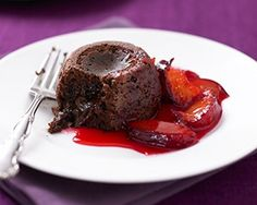 Prep time: 15 min Cook time: 15 min Serves: 6 Indulge yourself with James Martin's individual pots of rich chocolate pudding served with sweet and tangy plums. Ingredients For the fondants: 125 g butter 125 g dark chocolate 4 eggs 100 g caster sugar 60 g plain flour For the moulds: 1 tsp melted butterread more