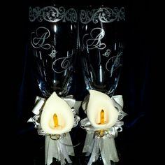 Copas grabadas a mano para bodas!