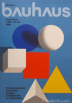 View 50 JAHRE BAUHAUS by Herbert Bayer on artnet. Browse upcoming and past auction lots by Herbert Bayer. Design Bauhaus, Bauhaus Art, Bauhaus Style, Bauhaus Colors, Wassily Kandinsky, Herbert Bayer, Text Poster, Bayer Design, Color Concept