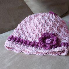 Baby Girl Soft Organic Cotton Crochet Hat.Baby by KetisCrochet, $23.20