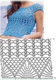 Resultado de imagem para blusas com grafico da revista trico e croche